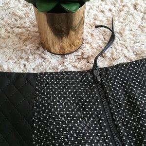 BCBGeneration Skirts - BCBGeneration Polka Dot Skirt with Leather